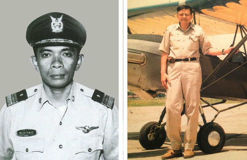 Nurtanio Pringgoadisuryo (left) and Wiweko Soepono (right), were Indonesia's aerospace industry pioneers. But it was Nurtanio, who died while flying a used Super Aero he had modified in 1966, who became known as the father of the national aerospace industry. (photo: tni-au.mil.id)
